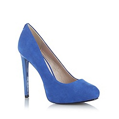 Faith - Blue suedette platform high court shoes