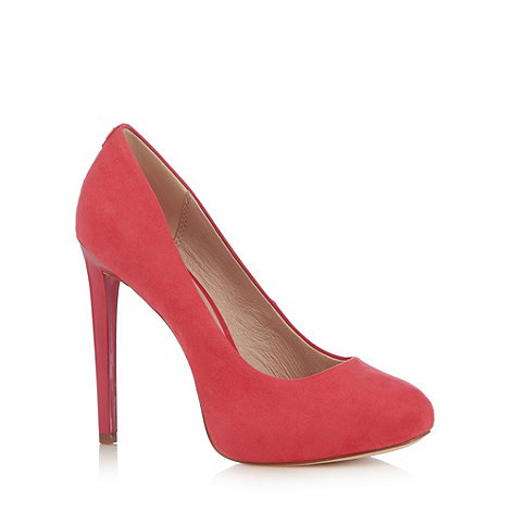 faith pink suedette high stiletto court shoes at