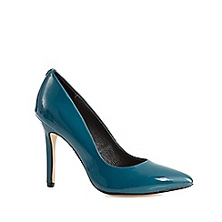 Faith - Turquoise patent high stiletto court shoes