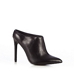 Faith - Black strip panel high shoe boots
