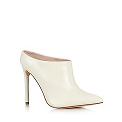 Faith - White strip panel high shoe boots