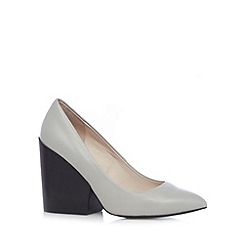 Faith - Grey chunky stacked high court shoes