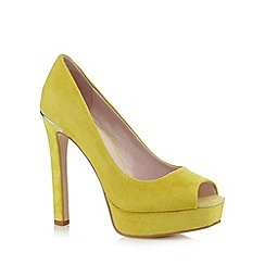 Faith - Bright yellow suede high court shoes