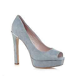Faith - Light blue suede high court shoes