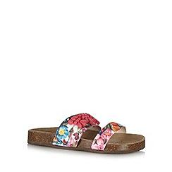 Faith - Khaki floral applique sandals