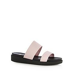 Faith - Light pink leather sandals
