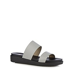 Faith - Grey leather sandals