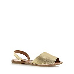 Faith - Gold leather slingback sandals