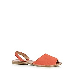 Faith - Coral suede slingback sandals