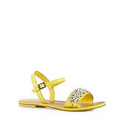 Faith - Yellow leather jewel strap sandals