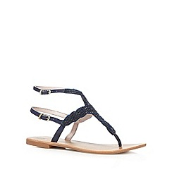 Faith - Navy bead embellished sandals