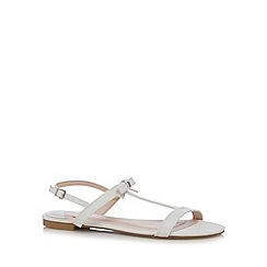 Faith - White bow strap slingback sandals