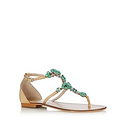 Faith - Green jewelled sandals