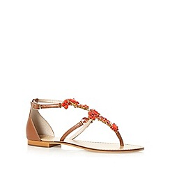 Faith - Coral jewelled sandals