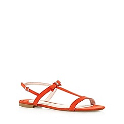 Faith - Red suedette buckle sandals