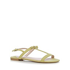 Faith - Lime bow strap slingback sandals