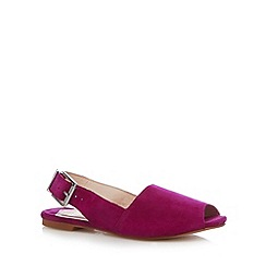 Faith - Purple suede peep toe sandals