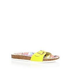 Faith - Lime synthetic sandals
