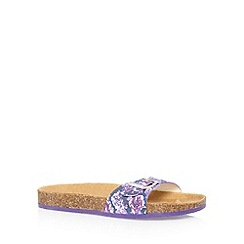 Faith - Purple leather strap sandals