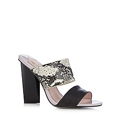 Faith - Black snake strap high sandals