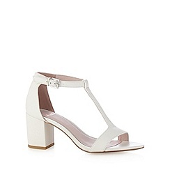 Faith - White mid heel sandals