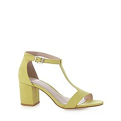 Faith - Lime suedette mid heel sandals