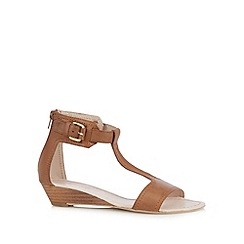 Faith - Tan leather buckle sandals