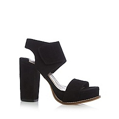 Faith - Black suede high heel sandals