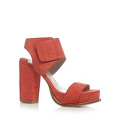 Faith - Coral suede high sandals