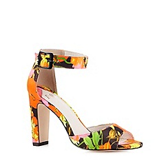 Faith - Black floral high heel sandals