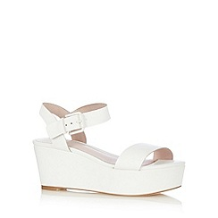Faith - White wedge mid sandals