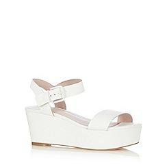 Faith - White wedge mid sandals