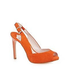 Faith - Orange suede slingback high court shoes