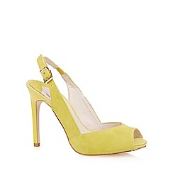 Faith - Lime suede slingback high court shoes