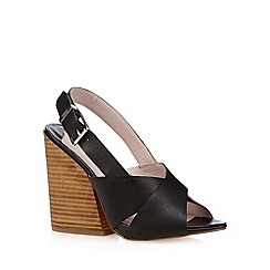 Faith - Black strappy leather high heel sandals