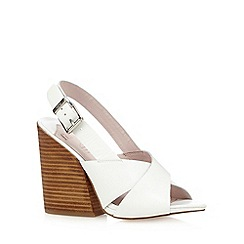 Faith - White strappy leather high heel sandals