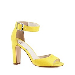 Faith - Yellow suedette high heel sandals
