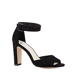 Faith - Black suedette high heel sandals