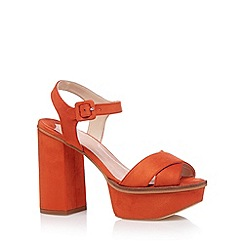 Faith - Orange cross high platform sandals