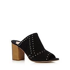 Faith - Black suede mid sandals