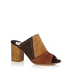 Faith - Tan 'Denia' suede mid sandals