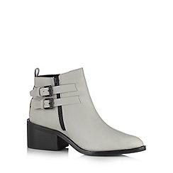 Faith - Grey buckle ankle boots