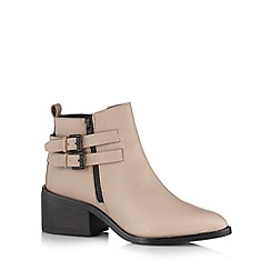 Faith - Natural buckle ankle boots
