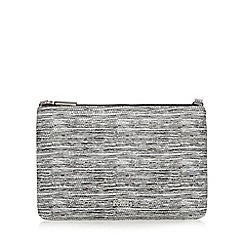 Faith - Black textured clutch bag
