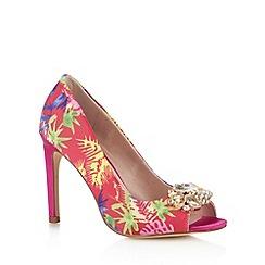 Faith - Dark pink tropical high court shoes