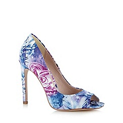 Faith - Lilac rose peep toe high court shoes