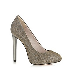 Faith - Metallic high platform court shoes