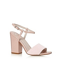 Faith - Pale pink beaded high sandals