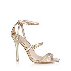 Faith - Gold ankle strap high sandals
