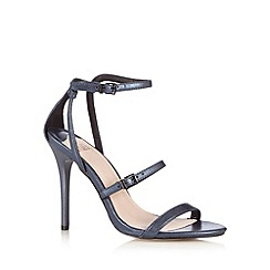 Faith - Navy ankle strap high sandals